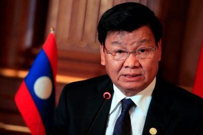 Laos' Prime Minister Thongloun Sisoulith attends the joint news conference of the Japan-Mekong Summit Meeting at the Akasaka Palace State Guest House in Tokyo, Japan, 9 October, 2018 (Photo: Franck Robichon/Pool via Reuters/File Photo).