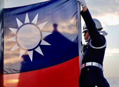 Tri-Service Honour (Honor) Guards raise Taiwan?s national flag in the morning, amidst the spread of the global pandemic disease covid-19, at Liberty Square, in Taipei, Taiwan, on November 15, 2020. With escalated tensions with China and successful containment of the coronavirus, Taiwan?s flag raising ceremony remains unchanged and daily life amongst the general public remains normal (Photo: Reuters/Ceng Shou Yi).