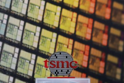 A logo of Taiwan Semiconductor Manufacturing Co (TSMC) is seen at its headquarters in Hsinchu (Photo: Reuters).